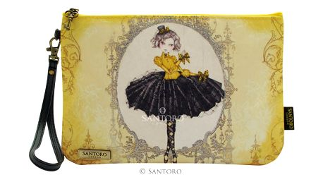 Santoro žluté kosmetická taštička Mirabelle Marionette