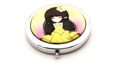 Kapesní kosmetické zrcátko Dolls žluté