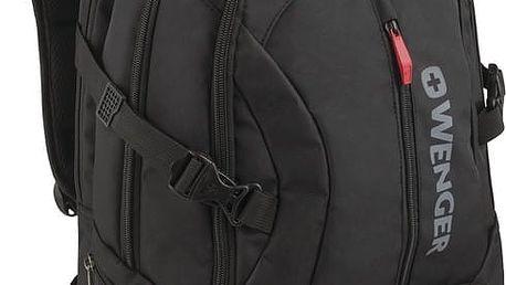 """WENGER TRANSIT - 16"""" batoh na notebook deluxe, černý - 600636 + Stylový bezdrátový reproduktor Connect IT CI-823 v ceně 499,- Kč zdarma!"""