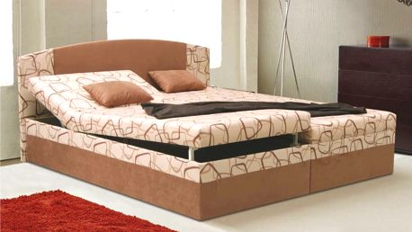 Manželská postel KAMILA EXCLUSIV 180x200 cm vč. roštu, matrace a ÚP