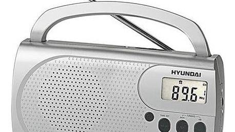 Radiopřijímač Hyundai PR 300 PLLS stříbrný