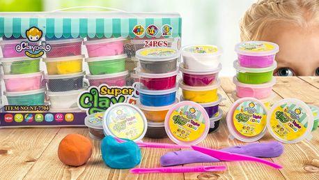 Veliké balení plastelíny Claydoll: 24 barev