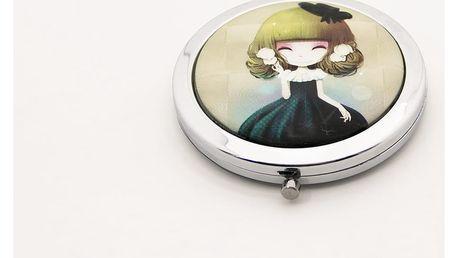 Kapesní kosmetické zrcátko Dolls zelené tmavé