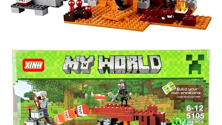 XINH Stavebnice MY WORLD Pouštní hlídková stanice - 324 ks