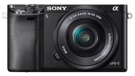 Digitální fotoaparát Sony Alpha A6000 + 16-50mm černý + Doprava zdarma