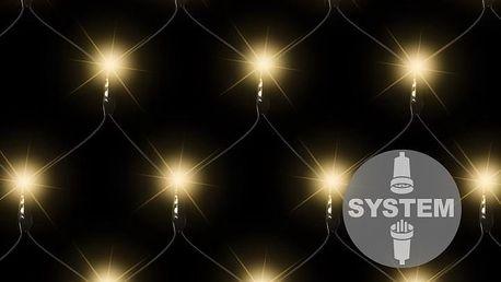 diLED světelná síť - 100 LED teple bílá
