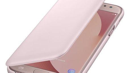 Samsung Galaxy J5 Flipové pouzdro, Wallet Cover, růžové - EF-WJ530CPEGWW