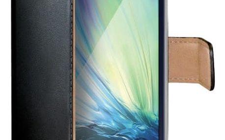 CELLY Wally pouzdro pro Samsung Galaxy A3, PU kůže, černá - WALLY452