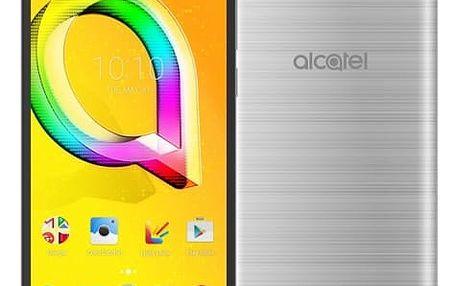 Mobilní telefon ALCATEL A5 LED 5085D (5085D-2AALE11) stříbrný