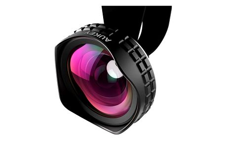 Aukey Ora iPhone Lens, 110° Wide Angle Clip-on Cell Phone Camera Lenses for Samsung, Android, iPhone - PL-WD01