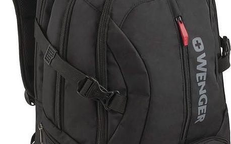 """WENGER TRANSIT - 16"""" batoh na notebook deluxe, černý - 600636"""