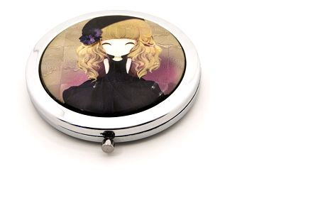 Kapesní kosmetické zrcátko Dolls černé