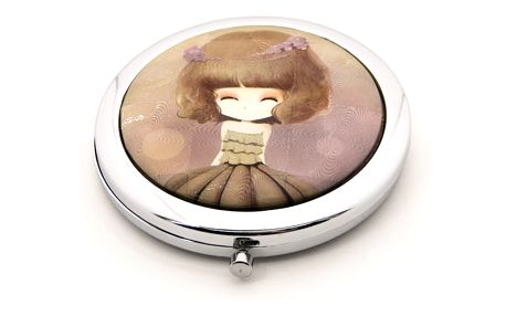 Kapesní kosmetické zrcátko Dolls hnědé