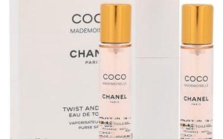 Chanel Coco Mademoiselle 3x 20 ml 20 ml toaletní voda Twist and Spray pro ženy