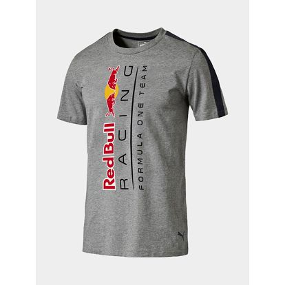 Tričko Puma RBR Logo Tee Medium Gray Heather Šedá