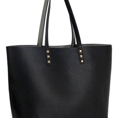 Dámská černošedá oboustranná kabelka Danielle 491