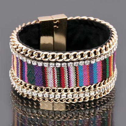 Fashion Icon Náramek etno s magnetickým zapínáním