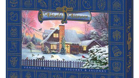 Vánoční kolekce s betlémem Modrá Chocoland 400g