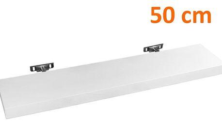 STILISTA SALIENTO 30872 Nástěnná police - bílá 50 cm
