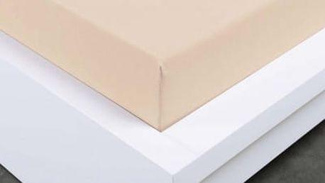XPOSE ® Bambusové jersey prostěradlo jednolůžko - bílá káva 90x200