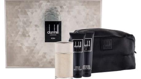 Dunhill Icon dárková kazeta pro muže parfémovaná voda 100 ml + sprchový gel 90 ml + balzám po holení 90 ml + kosmetická taška