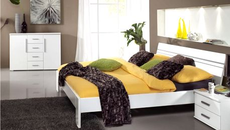 Dvoulůžková postel BIANCA 180x200 cm + 2 noční stolky
