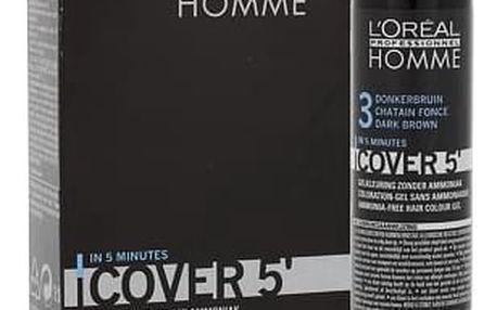 L´Oréal Professionnel Homme Cover 5´ 3x50 ml barva na vlasy 3 Dark Brown M