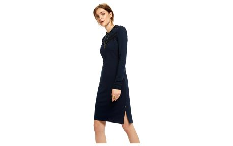 Scotch&Soda tmavě modré dlouhé šaty Fitted Sweater Dress