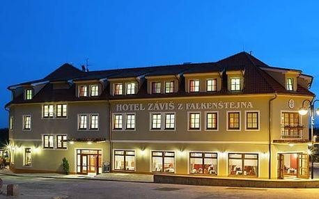 3denní relaxační pobyt ve 4* hotelu Záviš z Falkenštejna, snídaně a večeře, vstup na zámek či do ZOO