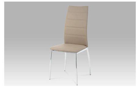 Jídelní židle AC-1019 COF coffee / chrom Autronic