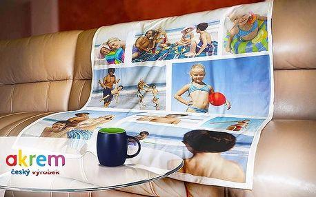 Fleecová deka z vlastních fotek pro vás, vaše děti i mazlíčka v různých rozměrech