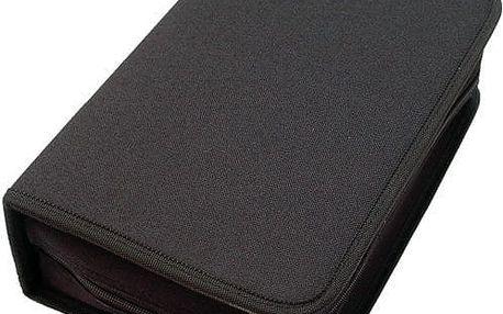 Box na 128 CD, černé Nylon