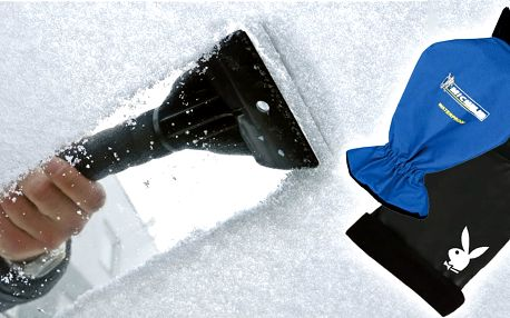 Škrabka s rukavicí pro zmrzlé ruce