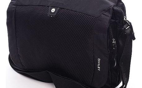 Černá taška přes rameno Diviley Frank černá