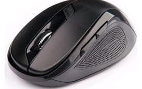 C-Tech WLM-02, černá, bezdrátová, 1600DPI, 6 tlačítek, USB nano receiver