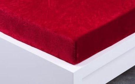 XPOSE ® Prostěradlo mikroflanel Exclusive dvoulůžko - vínová 140x200 cm
