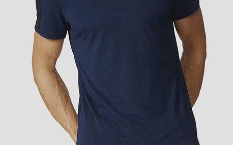 Tričko adidas Performance ESS 3S AOP TEE Modrá
