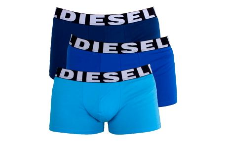 3PACK Pánské Boxerky Diesel Trunk Turquoise Royal Blue Shawn XL
