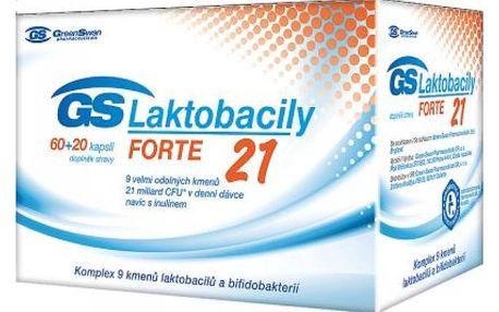 GS Laktobacily Forte21 60+20 kapslí