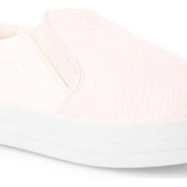 Dámské bílé slip on tenisky Bella 734