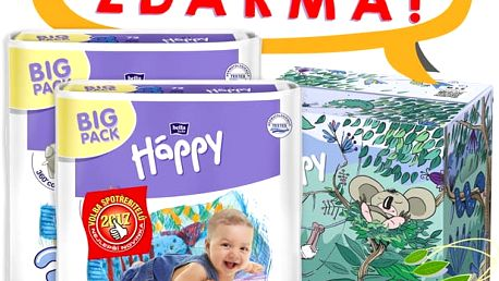 BELLA HAPPY Midi 3 Big TOY BOX (5-9kg) 144 ks - jednorázové pleny