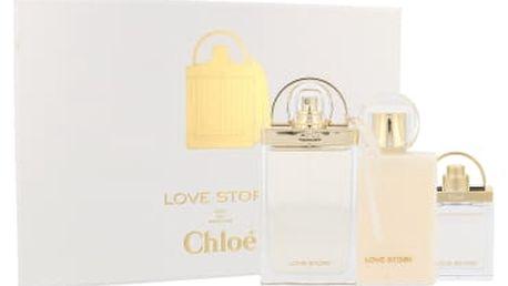 Chloe Love Story dárková kazeta pro ženy parfémovaná voda 75 ml + tělové mléko 100 ml + parfémovaná voda 7,5 ml
