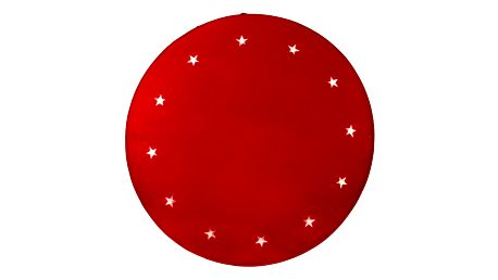 STAR TRADING Svítící koberec pod stromeček Stars Red, červená barva, textil