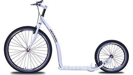 Koloběžka Olpran A7 bílá + Reflexní sada 2 SportTeam (pásek, přívěsek, samolepky) - zelené v hodnotě 58 Kč + Doprava zdarma