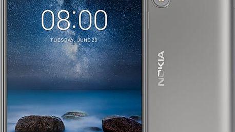 Nokia 8, stříbrná - 11NB1S01A06