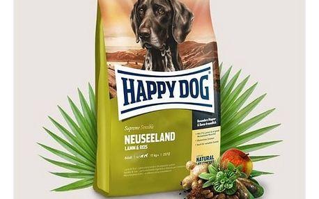 Granule HAPPY DOG Neuseeland Lamb&Rice 12,5 kg Konzerva HAPPY DOG Wild Pur - 100% maso zvěřiny 200 g (zdarma) + Doprava zdarma
