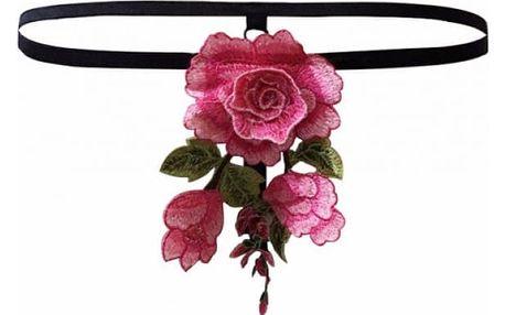 Dámská tanga s vyšívanou růží