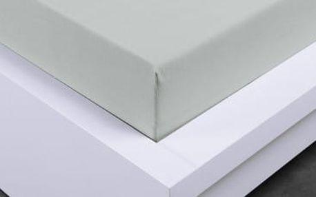 XPOSE ® Bambusové jersey prostěradlo jednolužko - světlé šedá 90x200 cm