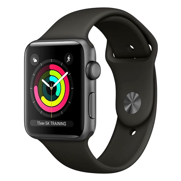 Apple Watch series 3 42mm pouzdro vesmírně šedá/šedý řemínek - MR362CN/A