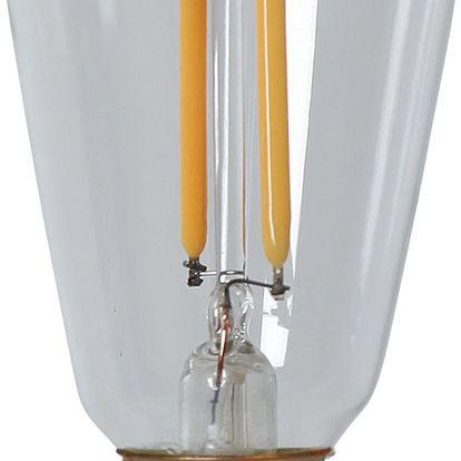 STAR TRADING Retro LED žárovka E14 (stmívatelná), zlatá barva, čirá barva, sklo